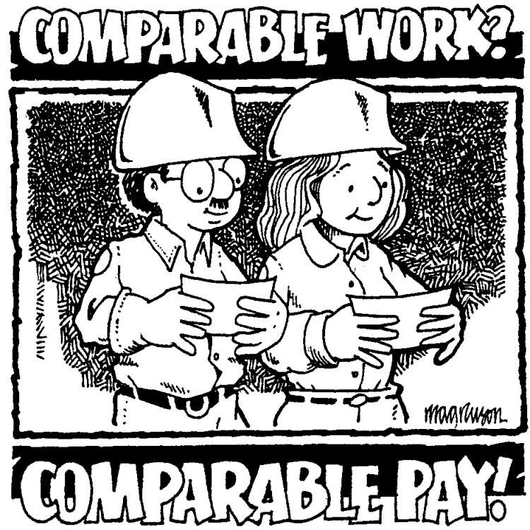 Comparable work? Comparable pay.