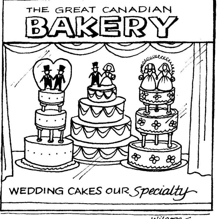 Same sex marriage cake