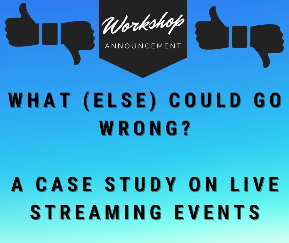 image for live streaming events workshop